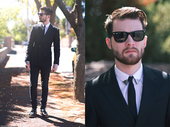 Ben Galbraith - Asos Db Suit Jacket, Jack London Collar Tips, Black Ring - Draft