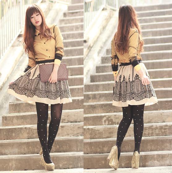 Mayo Wo - American Apparel Lace Bodysuit, Yesstyle Grey