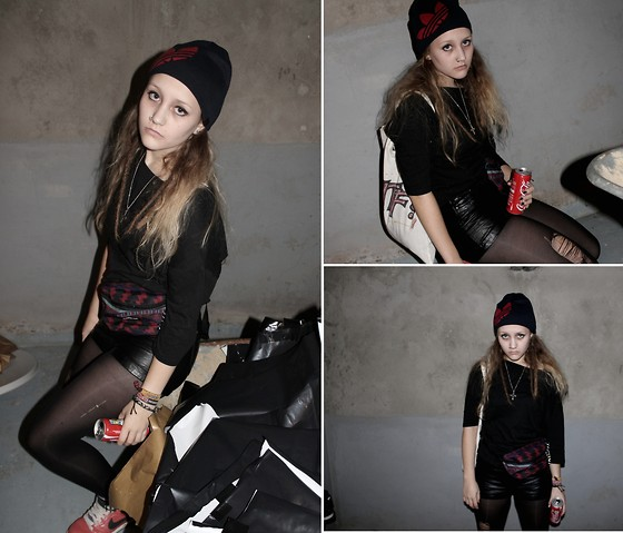 Julia Lovegood - Cheap Monday Shirt, Eastpak Waist Bag, H&M Shorts, Adidas Woolen Hat, Nike Sneakers - The xx - You've Got The Love (Theophilus London Remix)