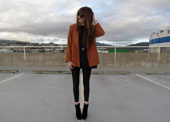 Amy Dunn - Thrifted Toffee Blazer, Disco Pants, Asos Boots - Toffee apple