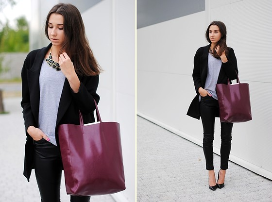 Patrycja R -  - MIXED TEXTURES + BURGUNDY BAG