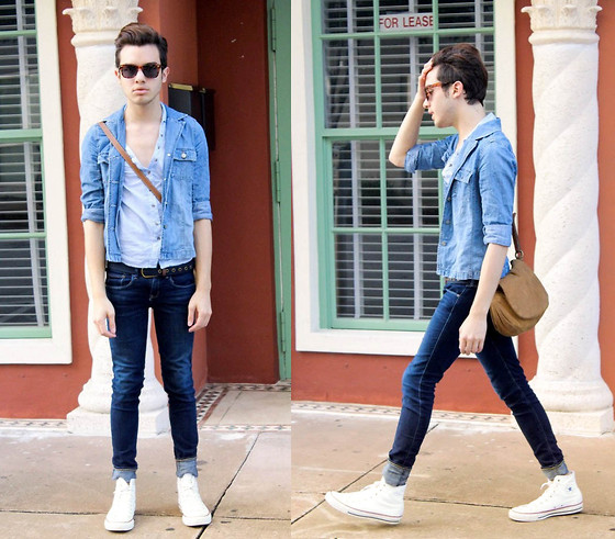 white converse jeans