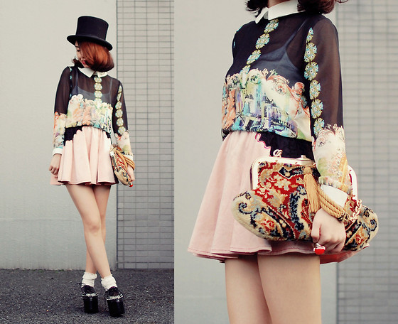 Shan Shan - Sheinside Blouse, One Spo Skirt, Vintage Bag, Jeffrey Campbell Shoes - Mixed style