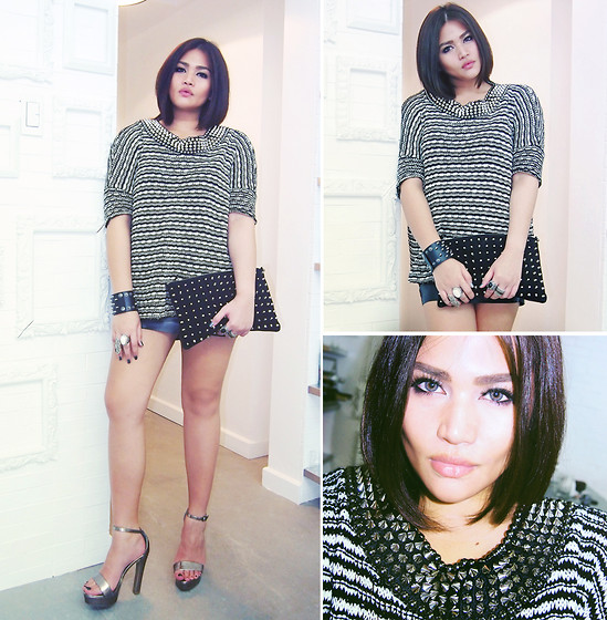 Raleene Cabrera - Zara Studded Sweater, Topshop Clutch - Best dressed up, better, you best dressed down.