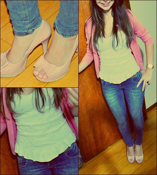 Emanoella Castro - Shoes, Corselet, Calvin Klein Pants, Cardigan - Sweet look *-*