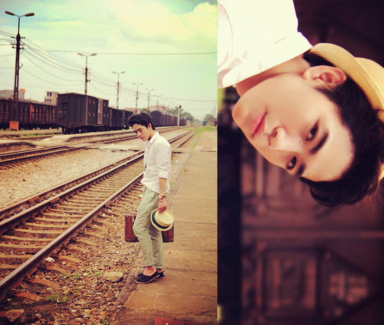 Dany Nguyễn - Diy Hat, H&M Black Shoes, Boy London Vintage Watch, Key&Coin Necklace, White Shirt - Journey