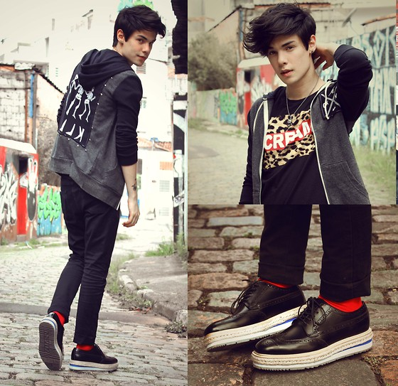 Vini Uehara - Glamour Kills Glamourkills Hoodie, Minga Berlin Socks, Wafflenscream T Shirt, Choies Shoes - Dead Or In Serious Trouble