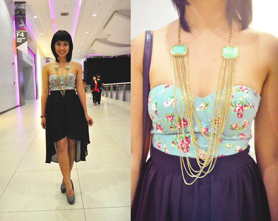 Daphne Verzosa - Forever 21 Mullet Skirt, Anti Fashion Manila Bustier, Forever 21 Layered Necklace, Forever 21 Heels - Changeling