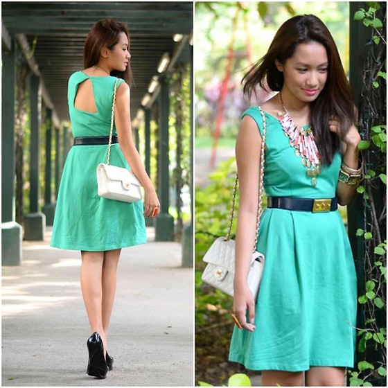 Laureen Uy - Top Picks Dress, Chanel Bag, Alexander Mcqueen Belt, Sm Accessories, Yves Saint Laurent Shoes - Greener (BMS)