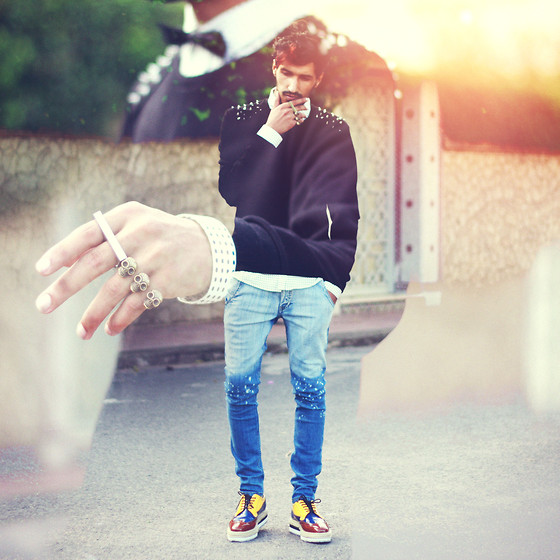 Mohcine Aoki - Asos, Zara Cloud Sweater, Getwear Ombre Jean, Choies, Merrin & Gussy Rings - Breathe and go slowly