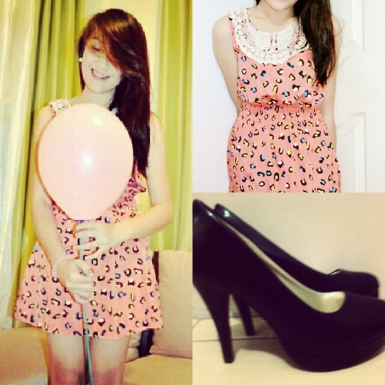Camille T. - Forever 21 Rainbow Colored Dress, Shoes - Kid wanna be.