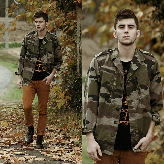 Clément Lasserre - Vintage Military Jacket, Wafflesncream T Shirt - Through the leaves