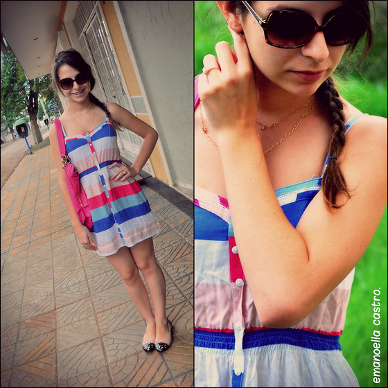 Emanoella Castro - Dress, Tommy Sunglasses - Striped Dress!