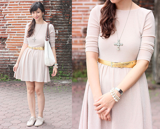 Bea Benedicto - Skater Dress, Favorite Beige Lace Ups - Awkward at Weddings