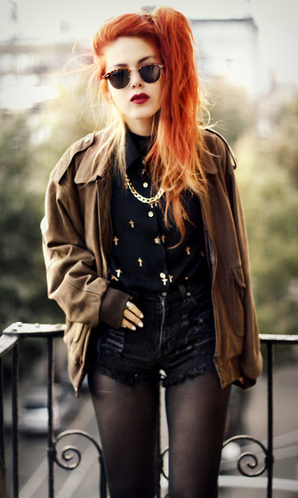 Lua P - Second Hand Jacket, Sheinside Blouse, And That Necklace - We're burning the pages.