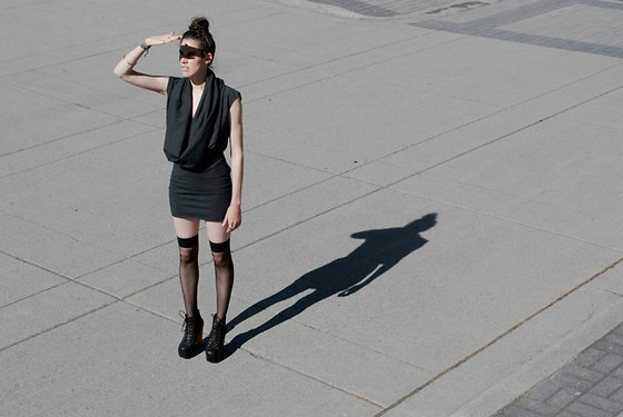 Melissa Araujo - Melissa Araujo Dress, American Apparel Socks, Jeffrey Campbell Shoes - Minimaliste