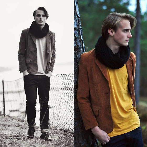 Theo Ortengren - Second Hand Blazer, Mq T Shirt, Cheap Monday Jeans - @theoortengren on Twitter