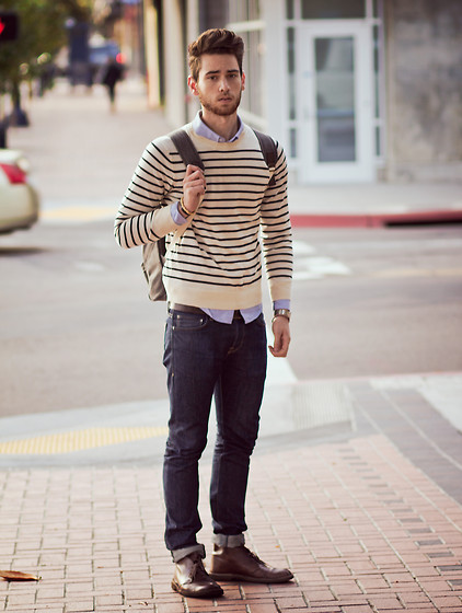 Edward Honaker - A.P.C. Sweater, Wings + Horns Jeans - Hiscores