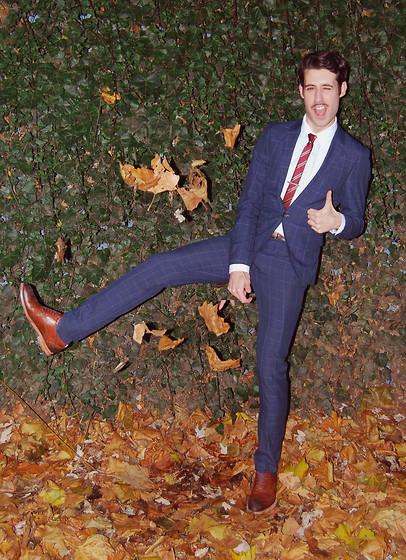 Adrian Cano - Brogues, Checked Suit - Let's Autumn!!!