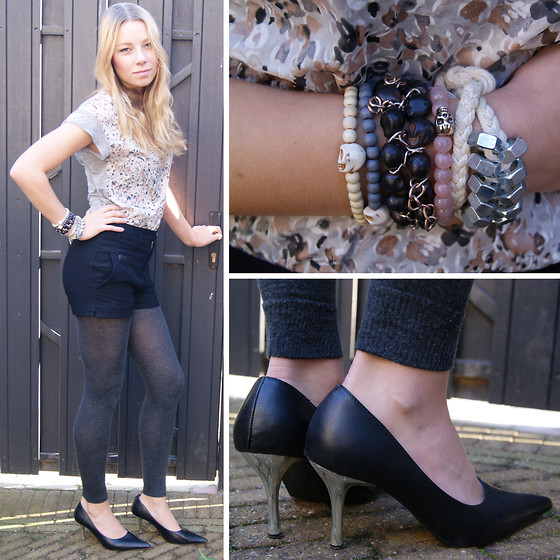 Marloes Spaargaren - Dept Black, Whateverilike Skul Bracelet White, Grey And Pink, Vanilia Silk And Cotton, Diy Bracelet - Metallic heels & Sweet skulls