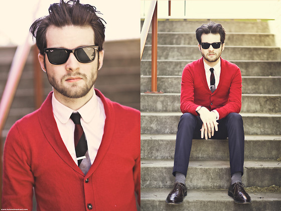 Ben Galbraith - Jack London Tie, Asos Cardigan - Stairs