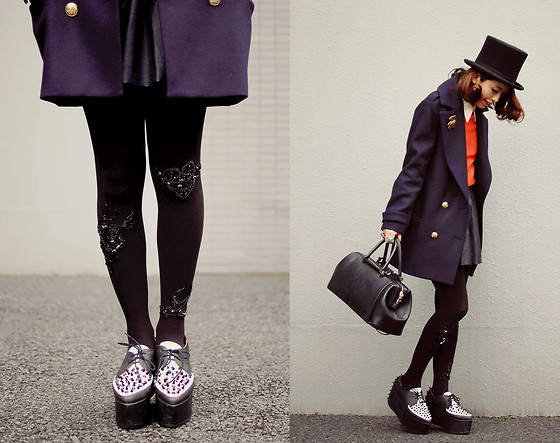 Shan Shan - Choies Blouse, Bebaroque Tights, Jeffrey Campbell Shoes - Basic style