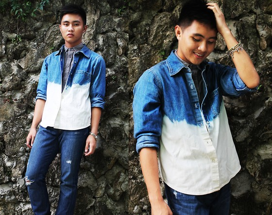 Kojin Domingo - Diy Ombre Denim Top - Acid Drops