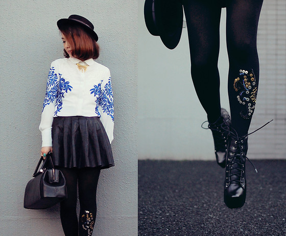 Shan Shan - Choies Boots, Bebaroque Tigths - Amazing embroidery shirt & tights