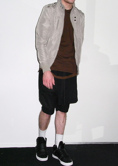 James McMaster - Blaq Premium Jacket, Helmut Lang Bondage Shirt, Anhika Shorts, Radii Sneakers - Exist In The Repeat Of Practice