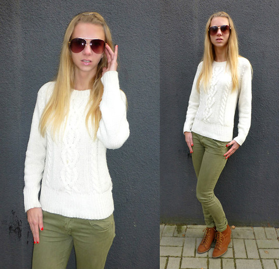 Ania Zarzycka - Bershka Sweater, Pull & Bear Pants, Pull & Bear Shoes, Aldo - Touch of military style