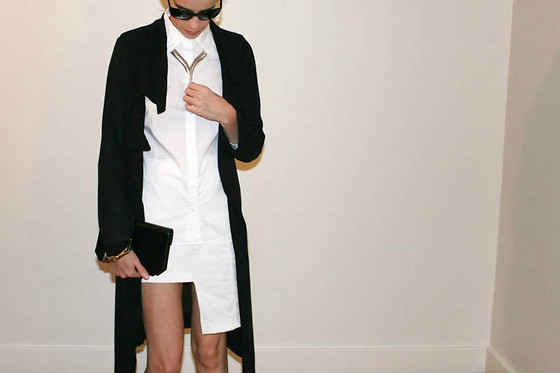 Melissa Araujo - Oak Jacket, Club Monaco Top, Diy Skirt, Margiela Bracelet - White + Black