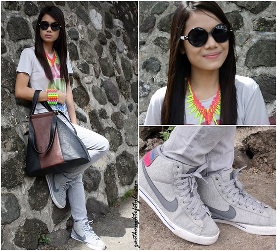 Zaira Chan - Marni Bag (Old), House Of Luxe Spiked Bangle - You Are The Neons In My Gray World