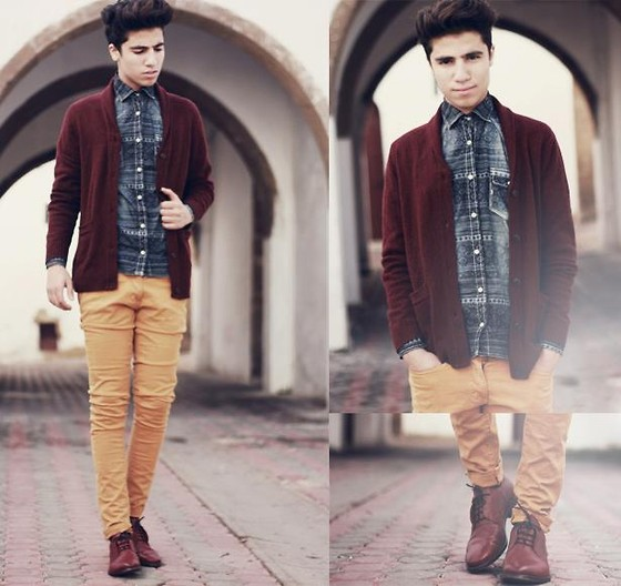 Ayoub Mani - H&M Sweater, Asos Aztec Shirt, Zara Mustard Jeans, Zara Shoes - Home is wherever i'm with you