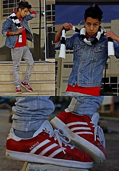 Diesel, Adidas Gazelle - Red