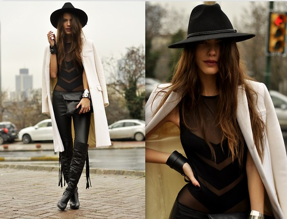 MARITSANBUL - Zara Oye Swimwear, Micheal Kors Coat, Leggings - Its not just a swimsuit!