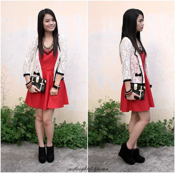 Zaira Chan - Forever 21 Dress, Charlotte Russe Outerwear, Forever 21 Wedges, Sm Accessories Necklace, Forever 21 Bangle, Tomato Datebook - Christmas Party + Tomato.ph Giveaway!