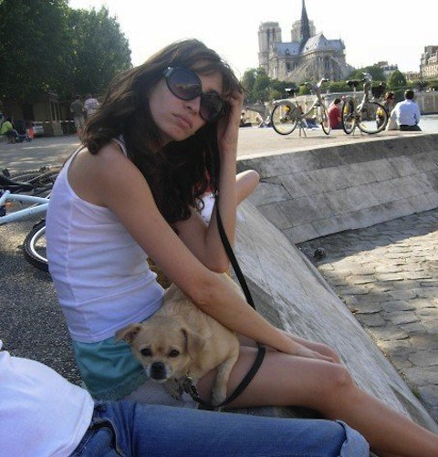 Liz E - Vintage Silk Top, Chanel Sunglasses - Day at the Seine with my Baby Girl