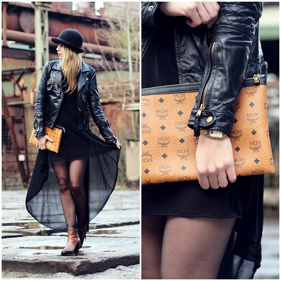 Herz über Kopf - H&M Dress, Mcm Clutch, Zara Jacket - Black Dress