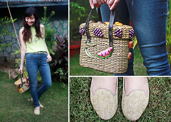 Bea Benedicto - Basket Shoes, Fruit Basket Bag, High Waisted Pants - Fruit Basket