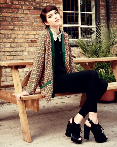 Sophie Bailey - King Pin Jacket, Topshop Heels, Mina Blouse - King Pin