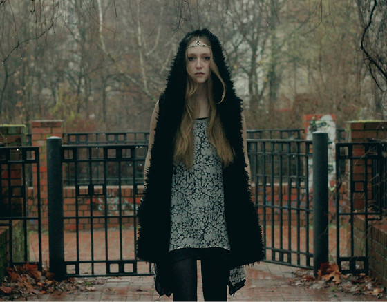 Marie-Louise H. - Urban Outfitters Headband, Evil Twin Black Vest, Evil Twin Dress - You're all i never knew & now you're all i've got