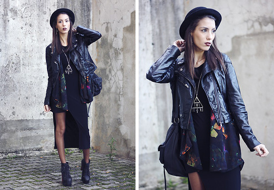 Sofia Reis - H&M Jacket And Hat, Fashion Frank Dress, Jeffrey Campbell Boots - My Blueberry Nights