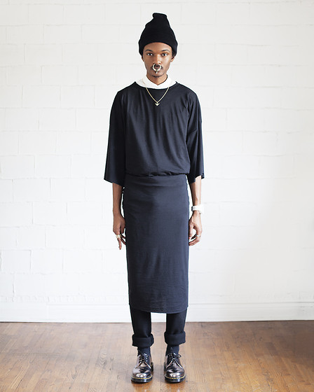 Junior S - Givenchy Bullring, Proud Race Column Tee, Domingo Rodriguez Wool Trousers, Dr. Martens Metallic 1461 - L A B & iD - Ain't nothing but a G thang...