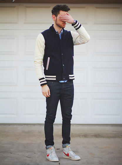 Edward Honaker - Abel Brown Jacket, Levi's® Jeans, Nike Shoes - Protovision