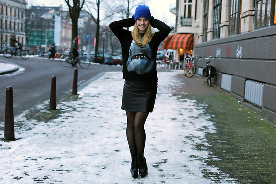 Kimberley Denise - American Apparel Beanie, Givenchy Sweater - Ice, ice, baby.