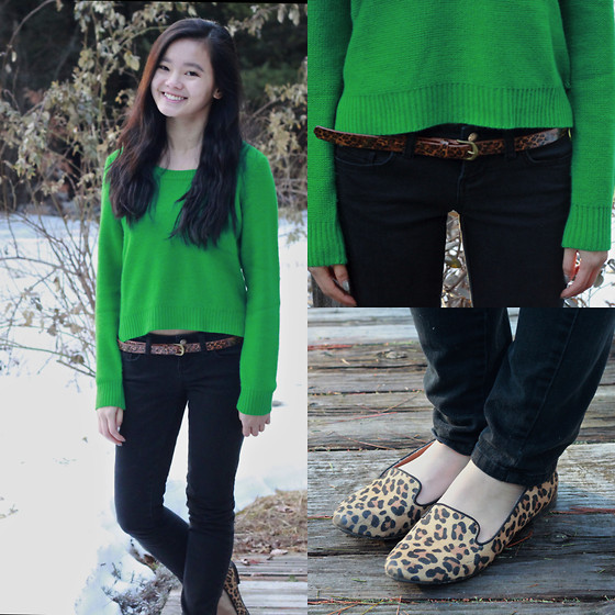 Zoe B. - H&M Sweater, Pacsun Jeans, Forever 21 Belt, Target Loafers - Two Of A Kind