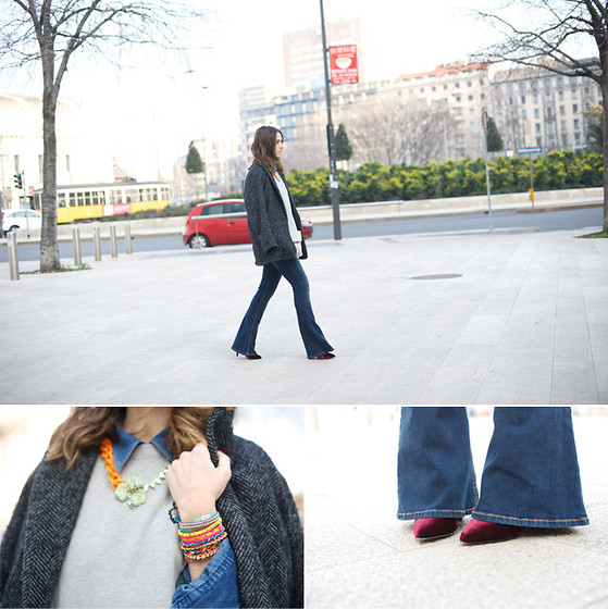 Erika Boldrin - Mango Coat, Hollister Jeans, Balenciaga Clutch, Kenzo Sweatshirt - The 70′s are back
