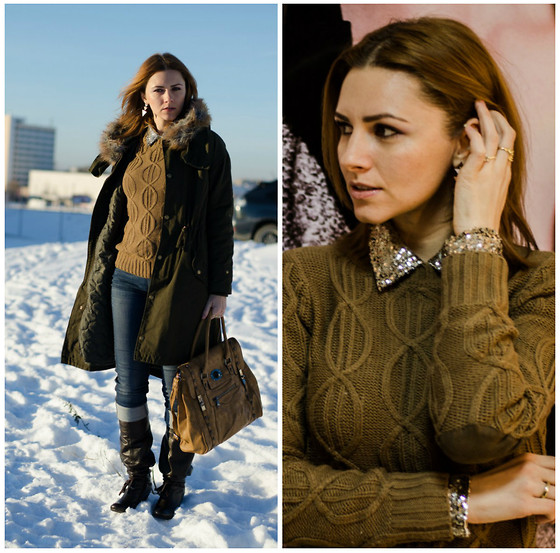 Elena Gilka - In Love With Fashion Bag, Romwe Skirrt - Cold in the winter!