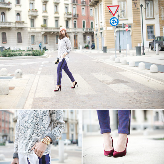 Erika Boldrin - Asos Sweatshirt, Three Floor Pants, Stefanel Shoes - Matchy Matchy