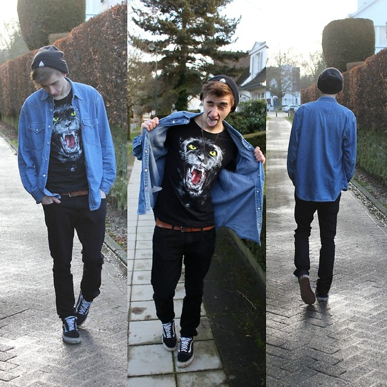 Tobi B - Thrifted Denim Shirt, Zara T Shirt - Ready Or Not